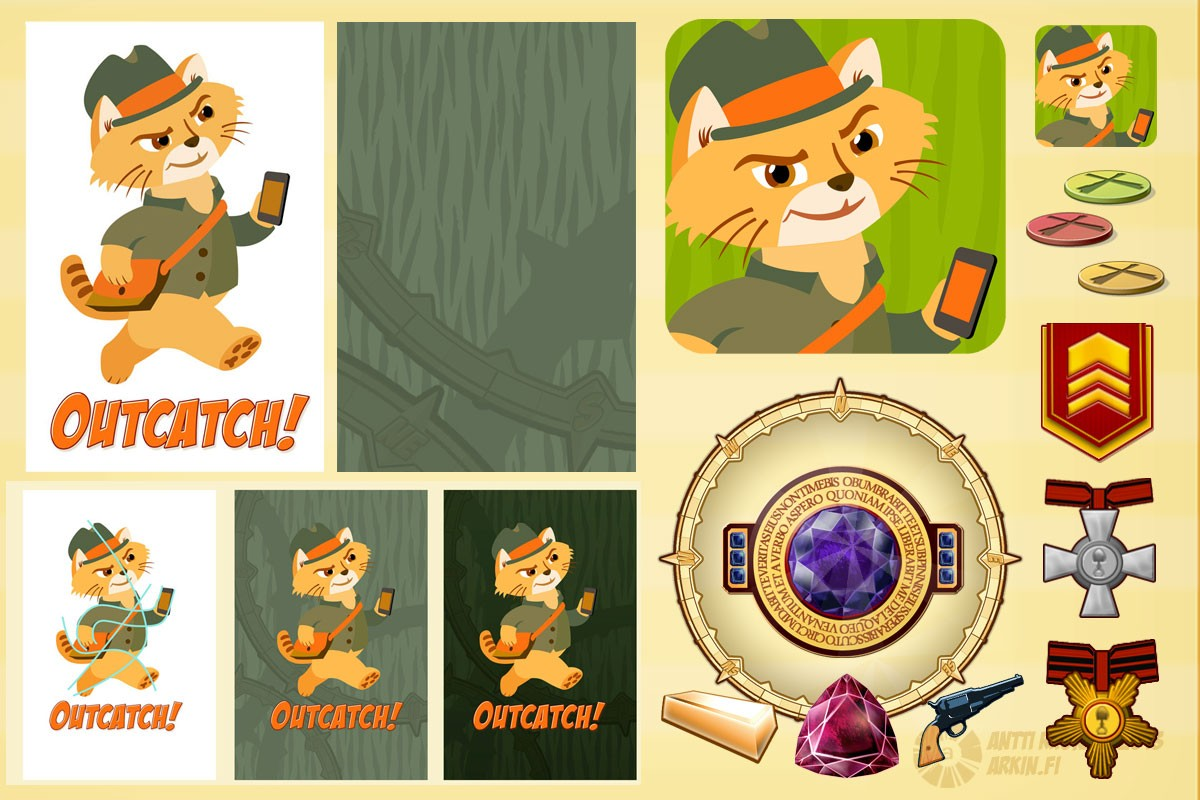 Visual Identity for the mobile game Outcatch