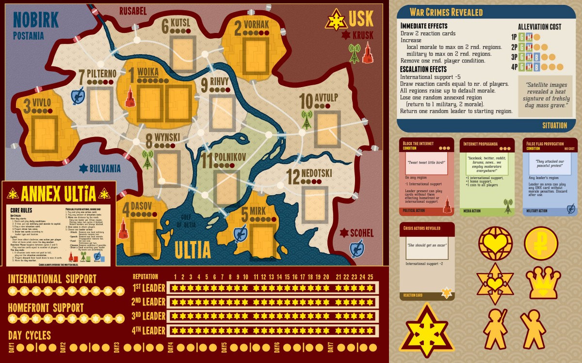 Annex Ultia – boardgame about modern geopolitics.